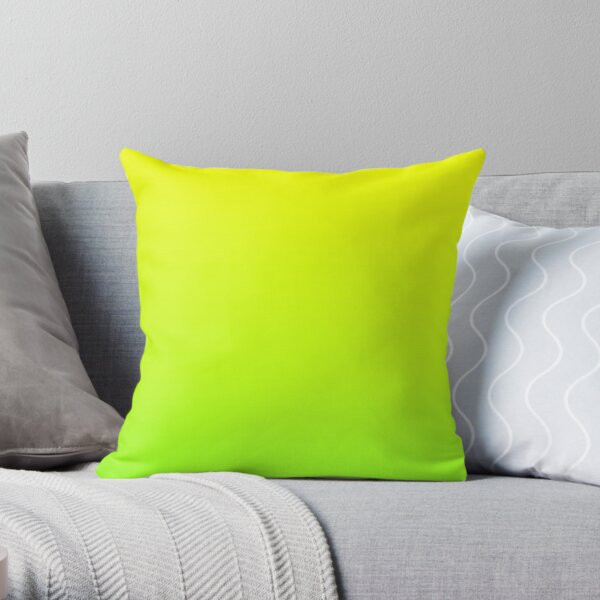 spring summer fashion yellow lime green ombre Throw Pillow