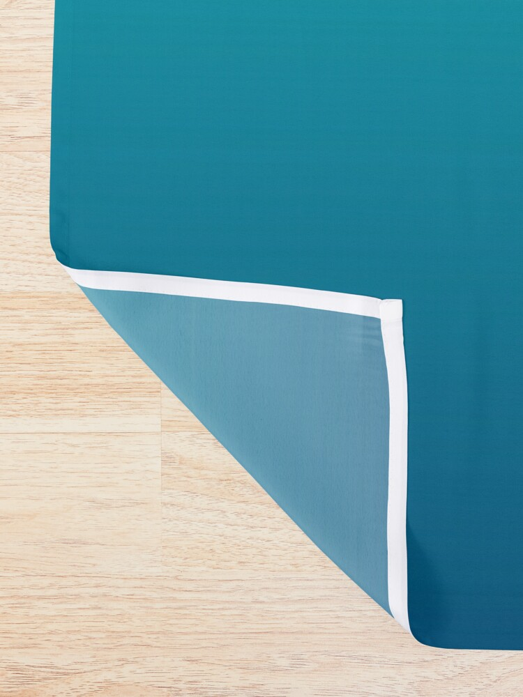 Alternate view of summer beach chic abstract teal blue turquoise ombre  Shower Curtain