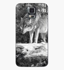 Timber Wolf Winter Menaces Case/Skin for Samsung Galaxy