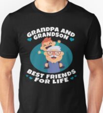 Grandpa And Grandson Best Friends For Life Funny Family Gift Unisex T-Shirt
