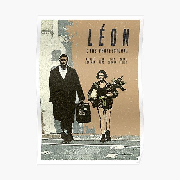 Léon Retro movie Imprimer Poster