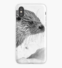Eurasian Otter in a Snowstorm iPhone Case/Skin