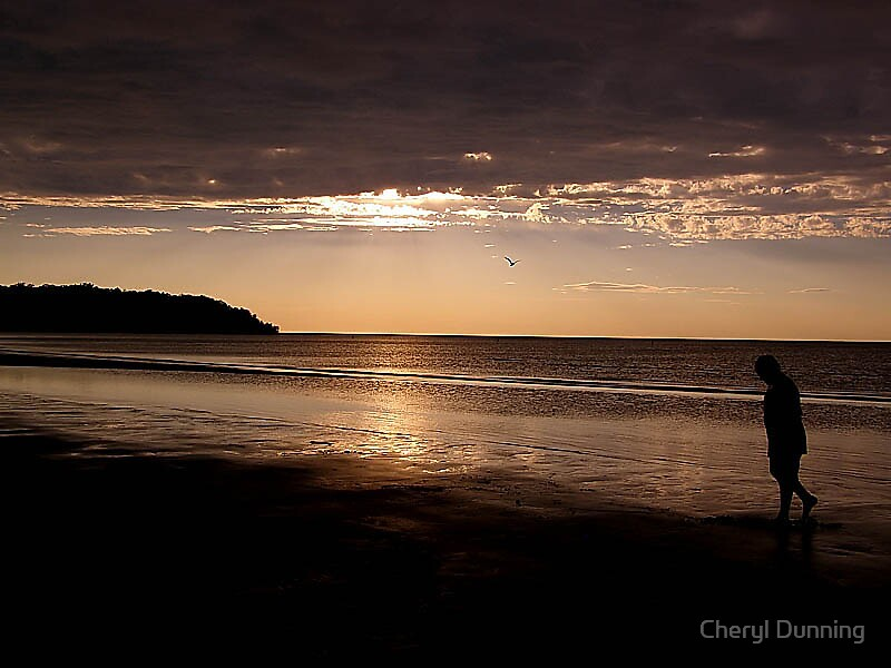 walking along the beach by Cheryl Dunning