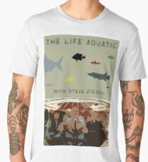 The Life Aquatic with Steve Zissou Retro Print Men's Premium T-Shirt