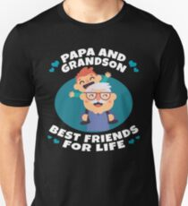 Papa And Grandson Best Friends For Life Funny Family Gift Unisex T-Shirt