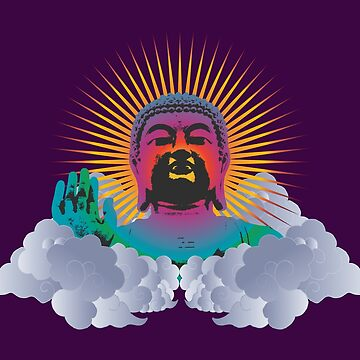 Rainbow Buddha by FredzArt