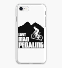 Last Man Pedaling iPhone Case/Skin