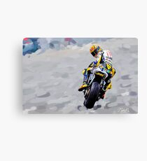 Valentino Rossi 1st Painting - Oil on Canvas Print Canvas Print