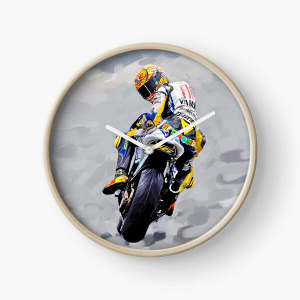 Valentino Rossi 1st Painting - Oil on Canvas Print Clock