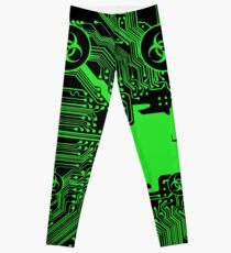 Legging Green Biohazard (Cybergoth)