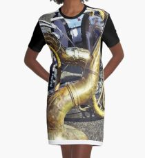 Two Sousaphones And Drums Graphic T-Shirt Dress