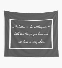 Tela decorativa 30 Rock Inspired Gray TV Show Jack Donaghy Quote Ambition (MEJOR PARA COMPRAR PEGATINA DE ESTE DISEÑO)