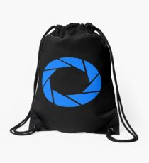 Aperture Science · Blue Emblem Drawstring Bag