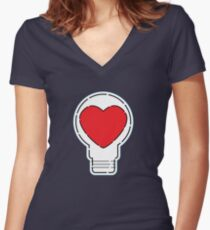 Let Love Light The Way ... Women's Fitted V-Neck T-Shirt