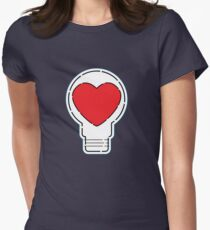 Let Love Light The Way ... Women's Fitted T-Shirt