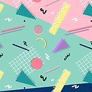 Dreaming 80s Pattern #redbubble #decor #buyart by designdn