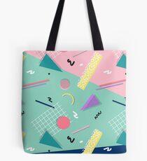 Dreaming 80s Pattern #redbubble #decor #buyart Tote Bag
