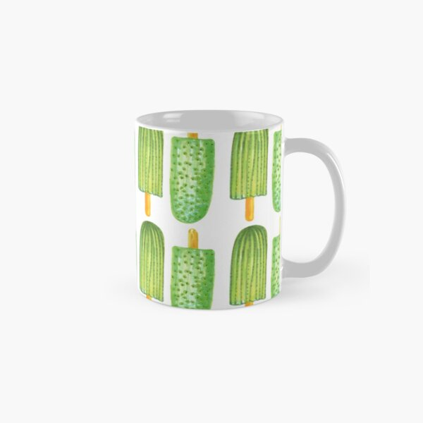 Cactus Popsicles Pattern #redbubble #decor #buyart Classic Mug