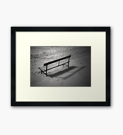 The Cold and Lonely Seat Framed Print