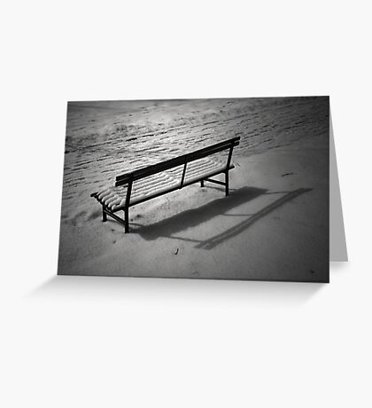 The Cold and Lonely Seat Greeting Card