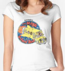 Washed-Out Magic School Bus Women's Fitted Scoop T-Shirt