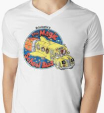 Washed-Out Magic School Bus Men's V-Neck T-Shirt