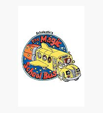 Washed-Out Magic School Bus Photographic Print