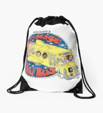Washed-Out Magic School Bus Drawstring Bag