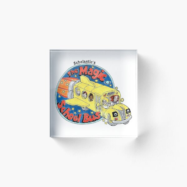 Washed-Out Magic School Bus Acrylic Block