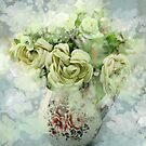 shabby chic bohemian romantic watercolor flowers by lfang77