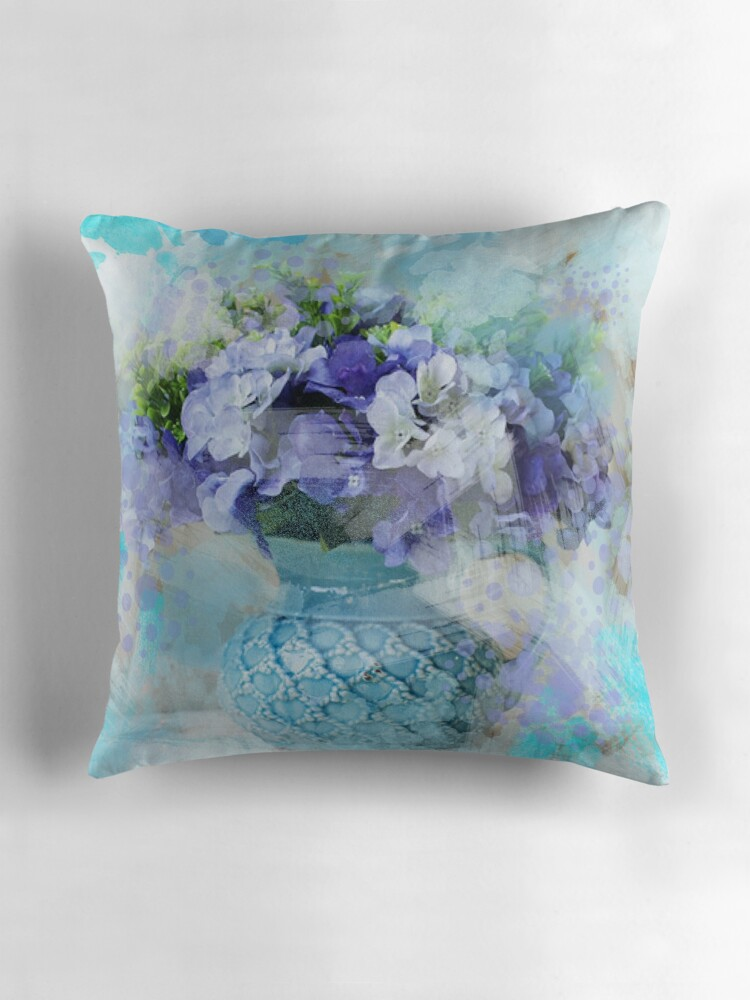 Shabby Chic Blue Pillows :