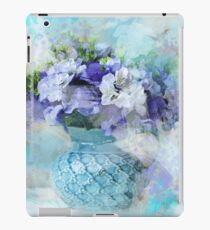 Vinilo o funda para iPad shabby chic país francés azul acuarela flores