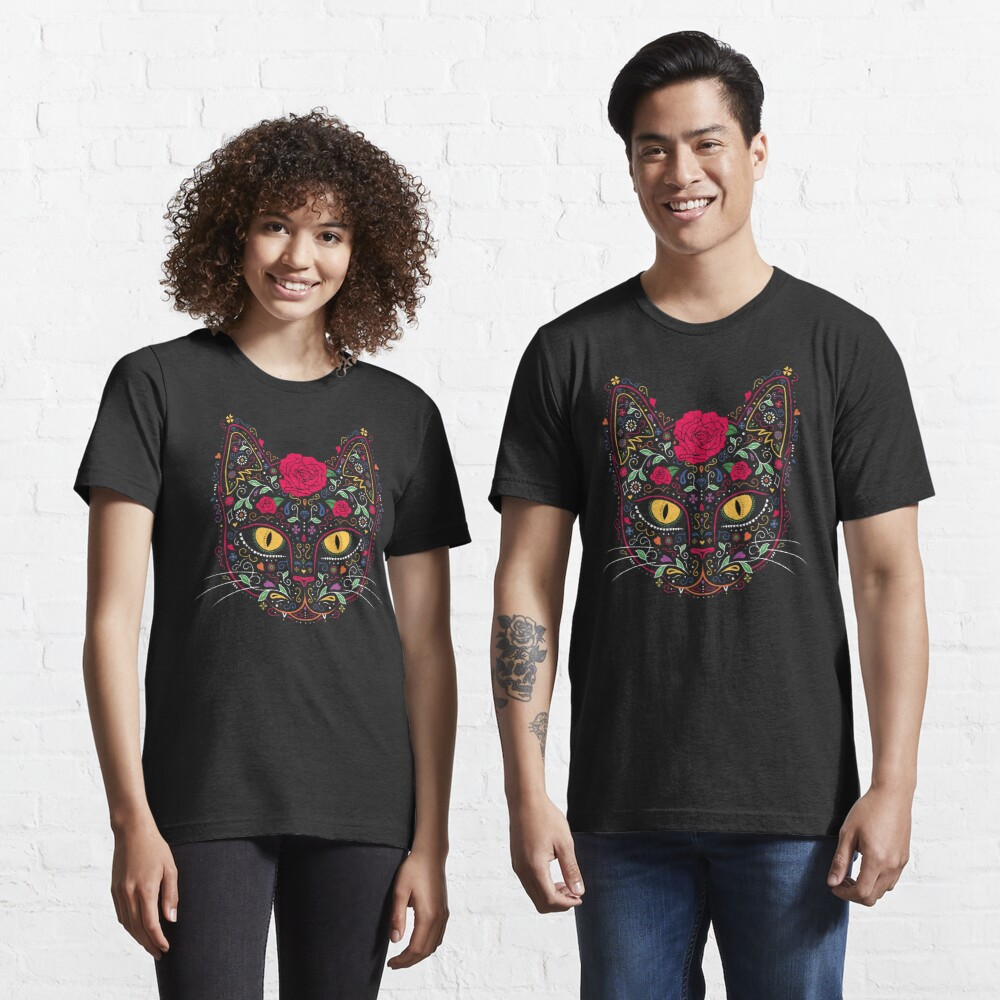 Day of the Dead Kitty Cat Sugar Skull Essential T-Shirt