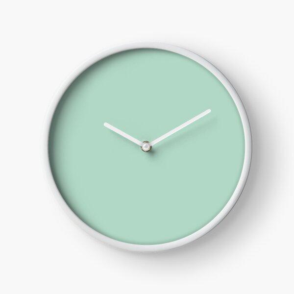 beachy summer aqua blue mint green seafoam  Clock
