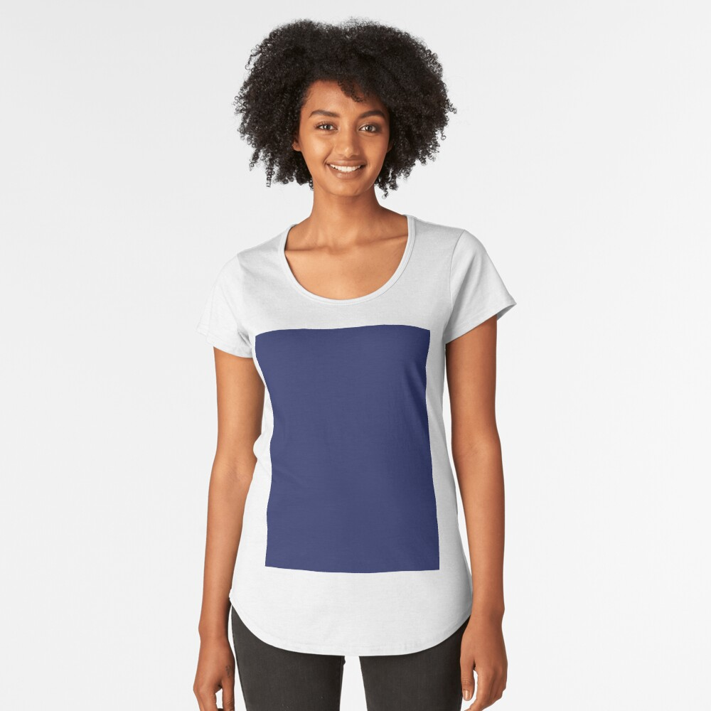 moderno con playas preppy náutico azul marino Camiseta premium de cuello ancho