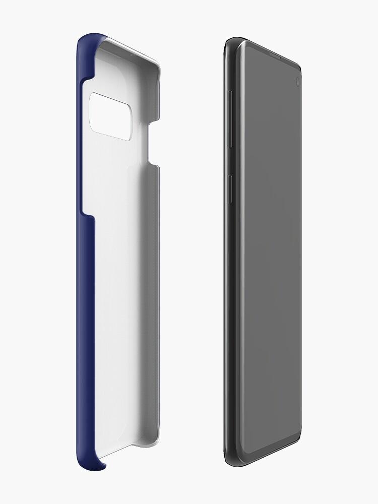 Vista alternativa de Funda y vinilo para Samsung Galaxy moderno con playas preppy náutico azul marino
