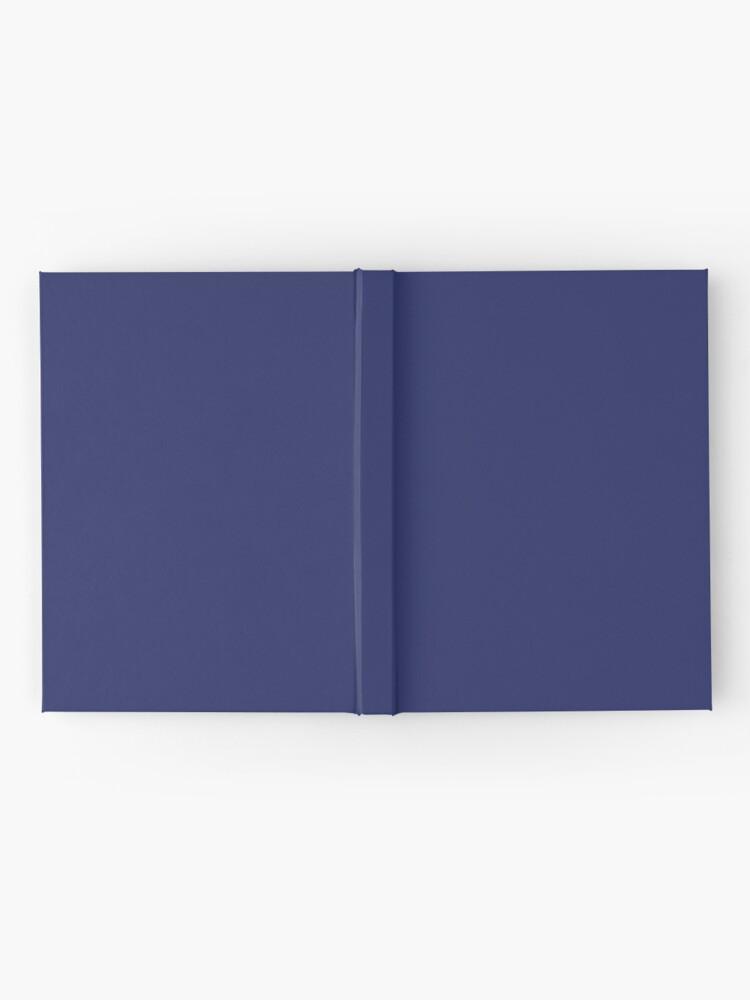 Vista alternativa de Cuaderno de tapa dura moderno con playas preppy náutico azul marino