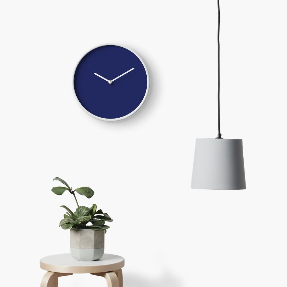 moderno con playas preppy náutico azul marino Reloj
