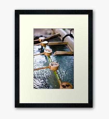 Handwashing Japanese Style Framed Print