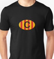 Catalunya C Classic Vintage Oval Badge Catalonia Slim Fit T-Shirt