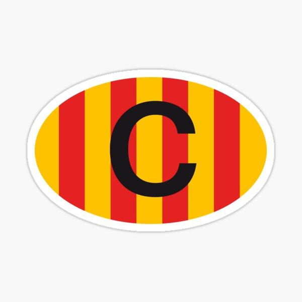 Catalunya C Classic Vintage Oval Badge Cataluña Pegatina