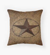 rustikaler westlicher Landleinwand-Texas-einsamer Stern Dekokissen