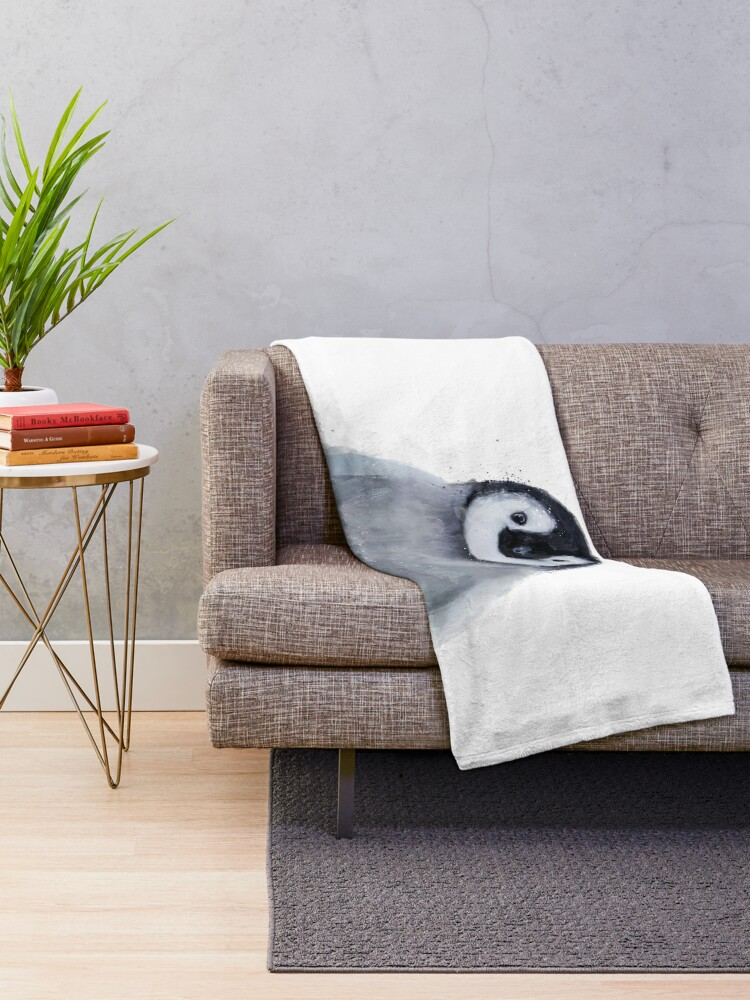 Alternate view of Little Penguin Throw Blanket