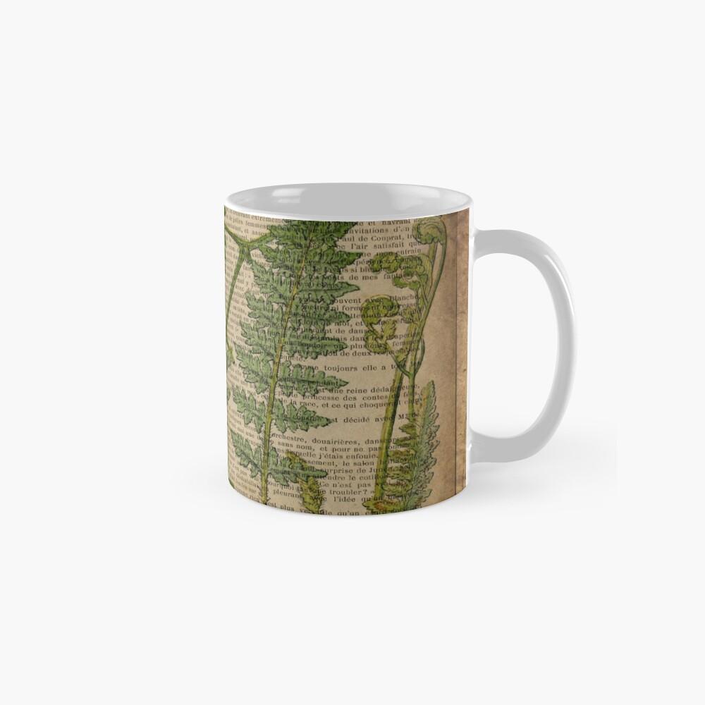 vintage foliage hipster botanical print fern leaves Mugs