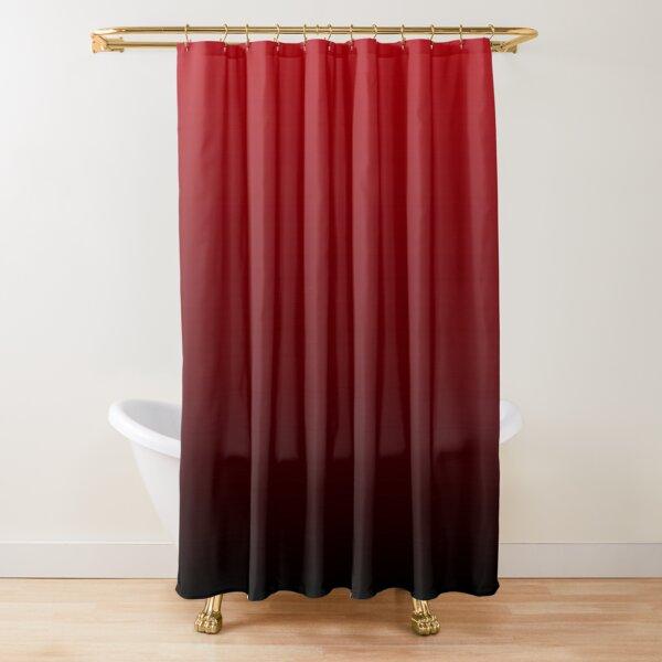 vintage vampire red black burgundy ombre Shower Curtain
