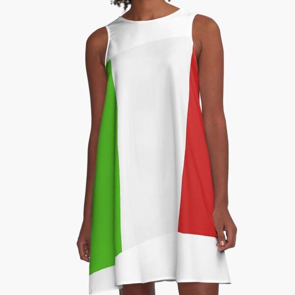 Italienische Flagge A-Linien Kleid