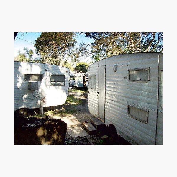 the caravan site (colour) Photographic Print