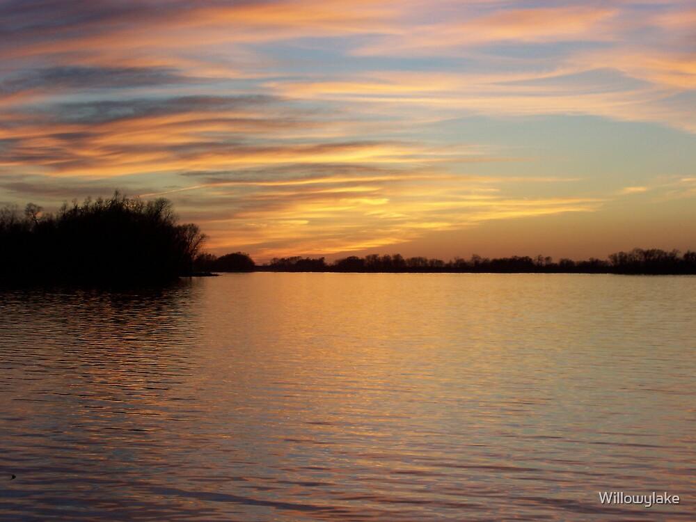 Sunset at the Lake by Willowylake