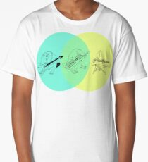 Keytar Platypus Venn Diagram Long T-Shirt