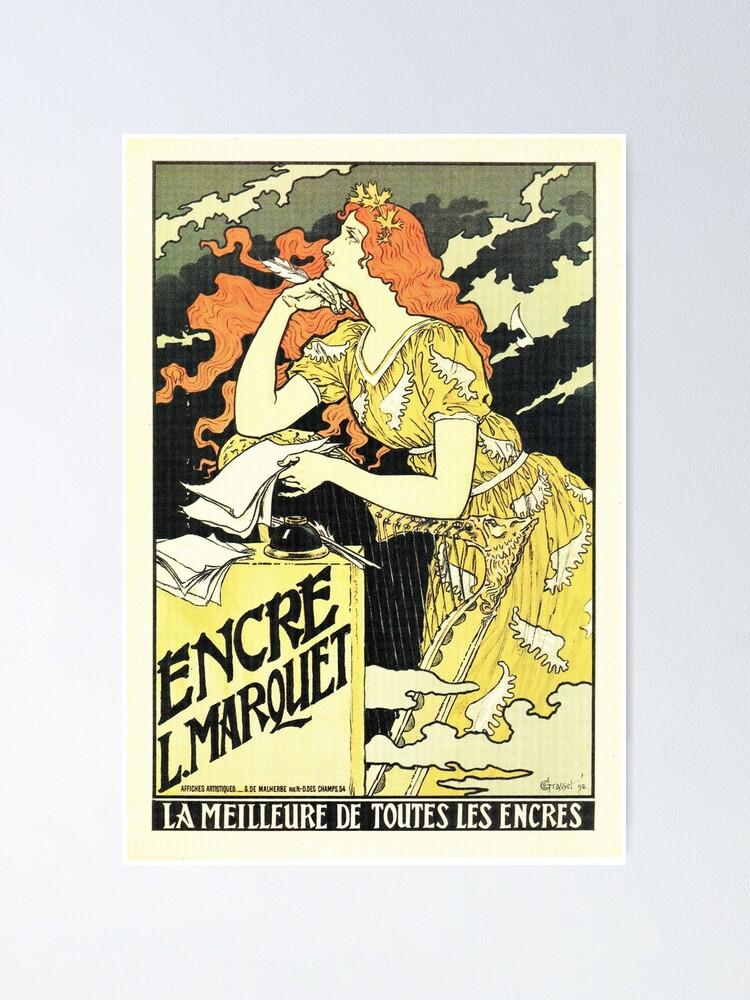 The Flower French Nouveau Alphonse Mucha Vintage Advertisement Poster